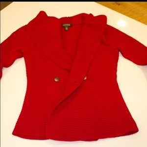Red Ralph Lauren Sweater (M)